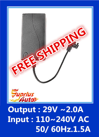 Free Shipping 1pcs 29v 2 0a Ac 110 240 Dc Plug In