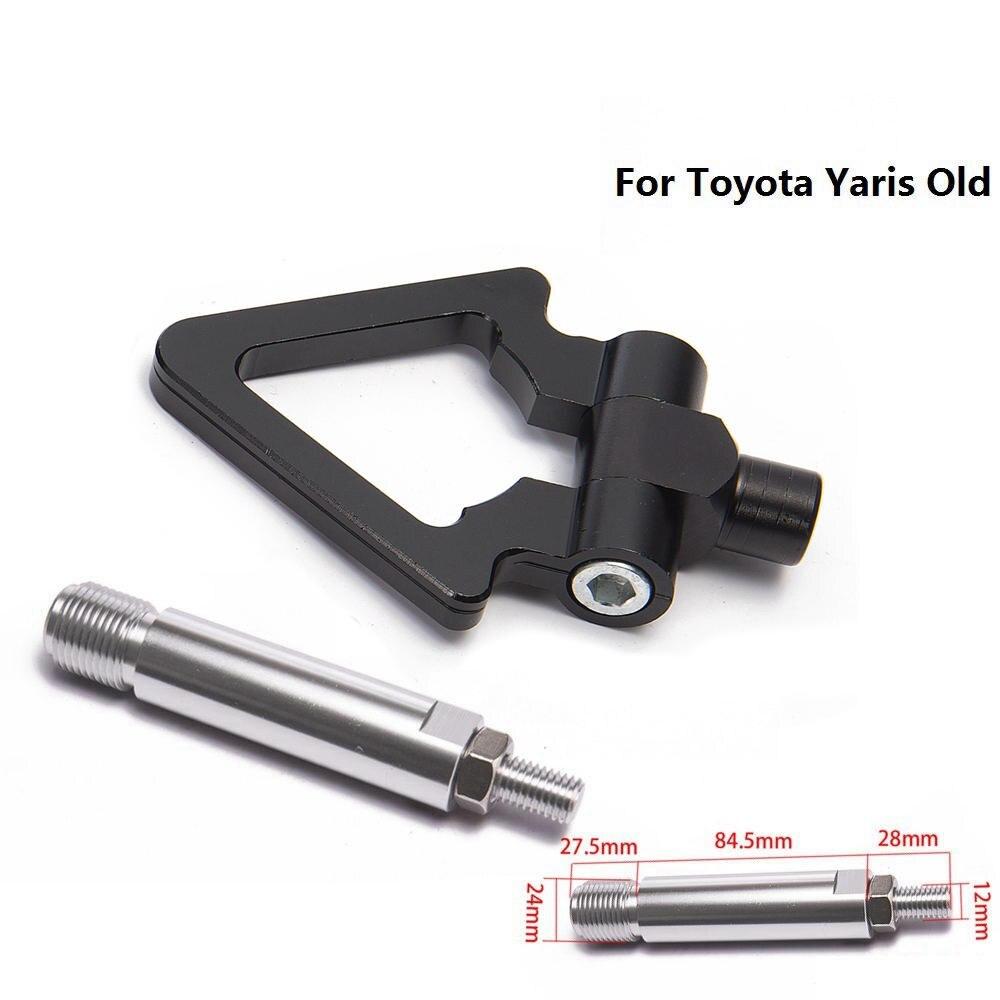 Спортивный EPMAN Jdm Алюминиевый Forge передний фаркоп передний задний для Toyota Yaris старый EP-RTHLPH007 - Название цвета: Black