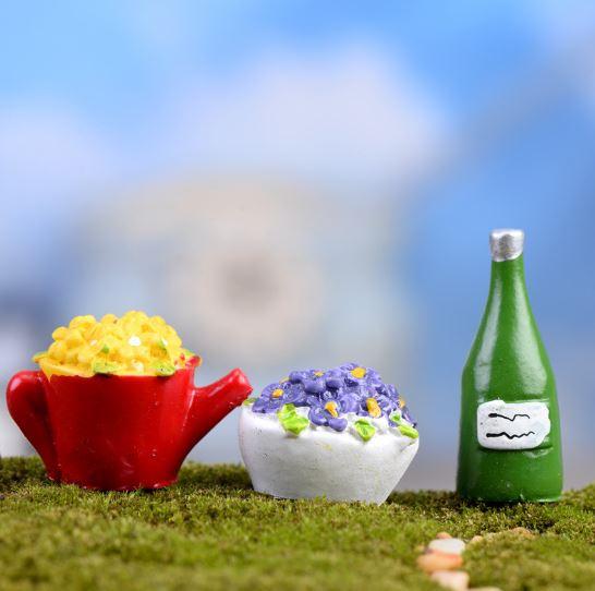 1 Pc Hot sale Kettle Bottle Vase Miniature Fairy Garden Home Houses Decoration Mini Craft Micro Landscaping Decor DIY Accessory