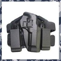 Para M9 92F Tactical Airsoft Cinturón Muslo Puttee Leg Drop Bolsa Pistolera CQC Venta Al Por Mayor