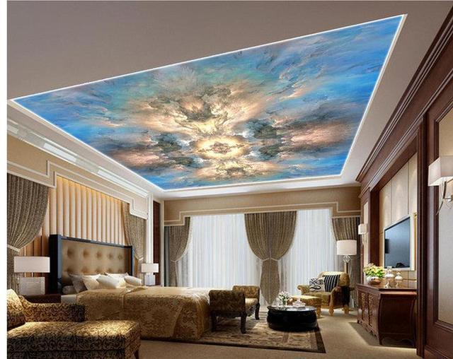 Carta da parati 3d soffitto pittura a olio astratta marmo for Carta da parati per soffitto