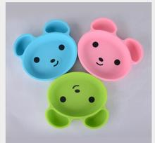 Baby Dishes Infant Plate Kids Silicone Bowl Bear  Styling Tableware Set Kitchen Fruit Dinnerware Placemat