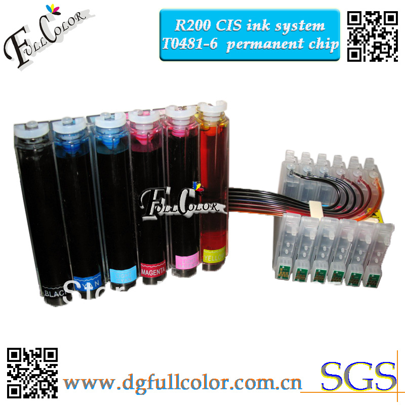 Free Shipping High Quality <font><b>R200</b></font> CISS With Sublimation Ink For T0481-6 CISS Ink System image