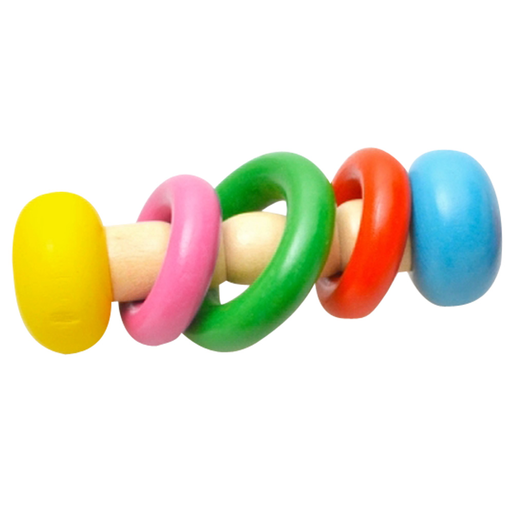 Educational Baby Toys : Kids baby toys bell wooden rattle thebabiesstore