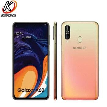 Перейти на Алиэкспресс и купить Новый Samsung Galaxy A60 4G LTE мобильный телефон 6,3 дюйма 6 ГБ ОЗУ 128 Гб ПЗУ Восьмиядерный Snapdragon 675 32,0 Мп + 8 Мп + 5 Мп камера заднего вида смартфон