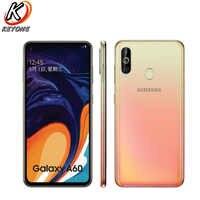 """Nuovo Samsung Galaxy A60 4G Lte Mobile Phone 6.3 """"6G di Ram 128 Gb di Rom Snapdragon 675 Octa core 32.0MP + 8MP + 5MP Posteriore Fotocamera Smart Phone"""