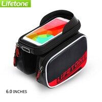 New Cycling Bike Bicycle Bags Bike Frame Front Tube Waterproof Mobile Phone Bag 5 0 Inch
