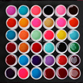 DIY New 36 PCS Glass Mix Color UV Builder Gel Acrylic Nail Art Set for Nail Art Tip