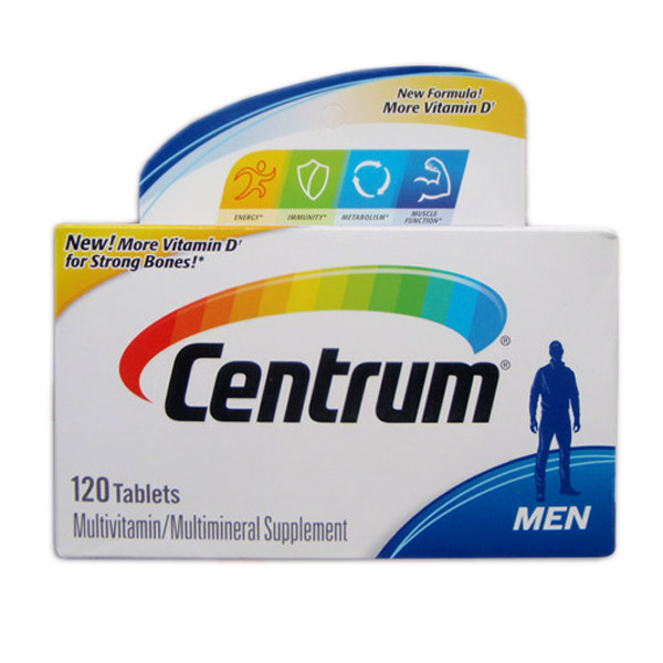 Free Shipping Centrum Ultra Men Multivitamin multimineral Supplement 120 pcs EXP 01/20 image