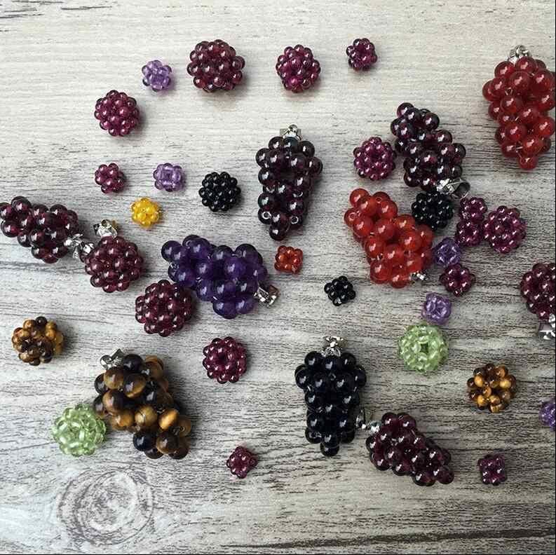 XUEYUN 2017 705+++Natural Crystal Garnet     stone   pendant tiger grape