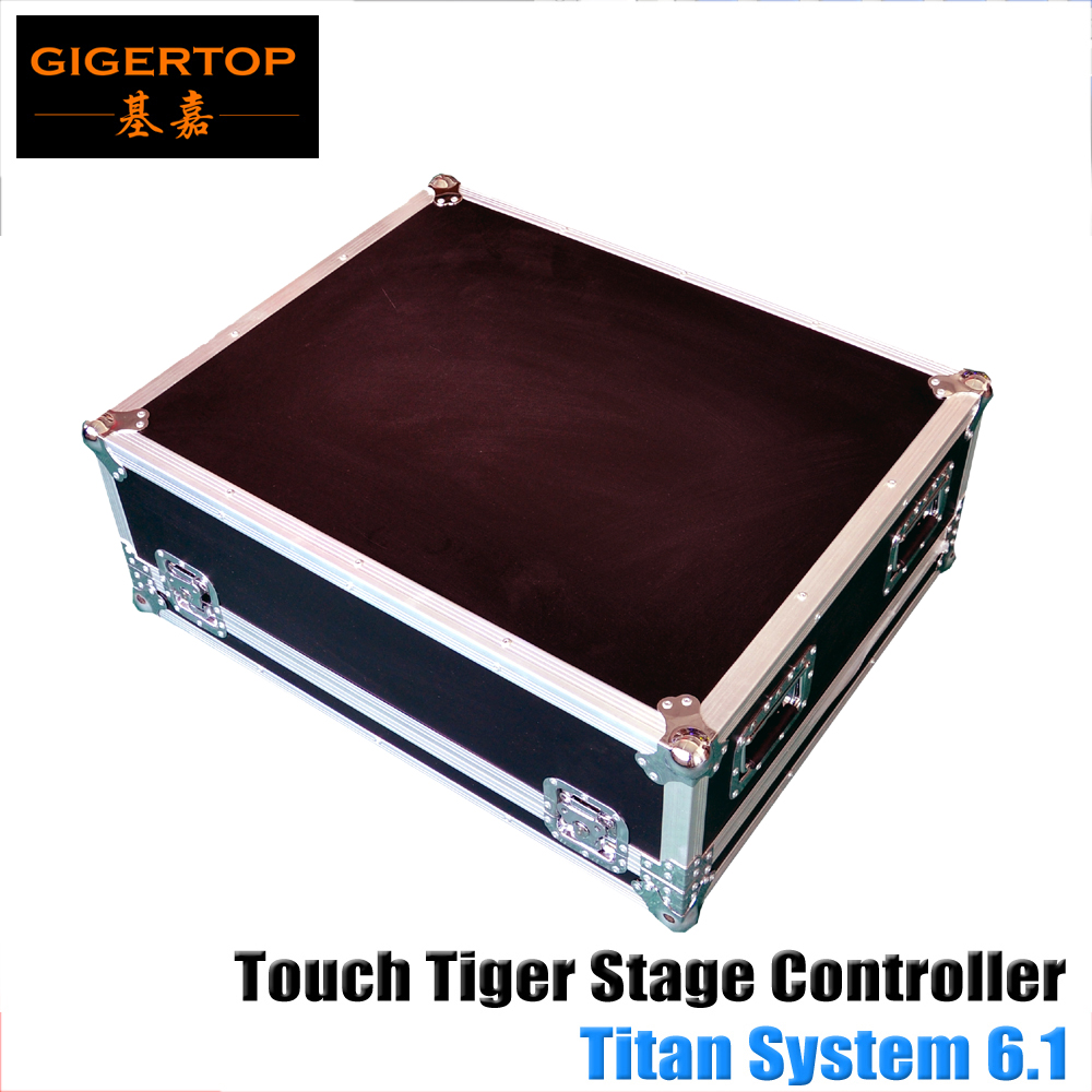 Touch Tiger Titan 6.1 System Stage Light DMX Controller Flightcase Packing Touchable Screen 64G Hard Disk Core Duo processor