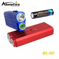 ALONEFIRE BL80 USA CREE XP-E R2 LED laser Màu Xanh Lá Cây Bike Xe Đạp Cycle Đi Xe Đạp lights đèn pin torch với 18650 Pin sạc