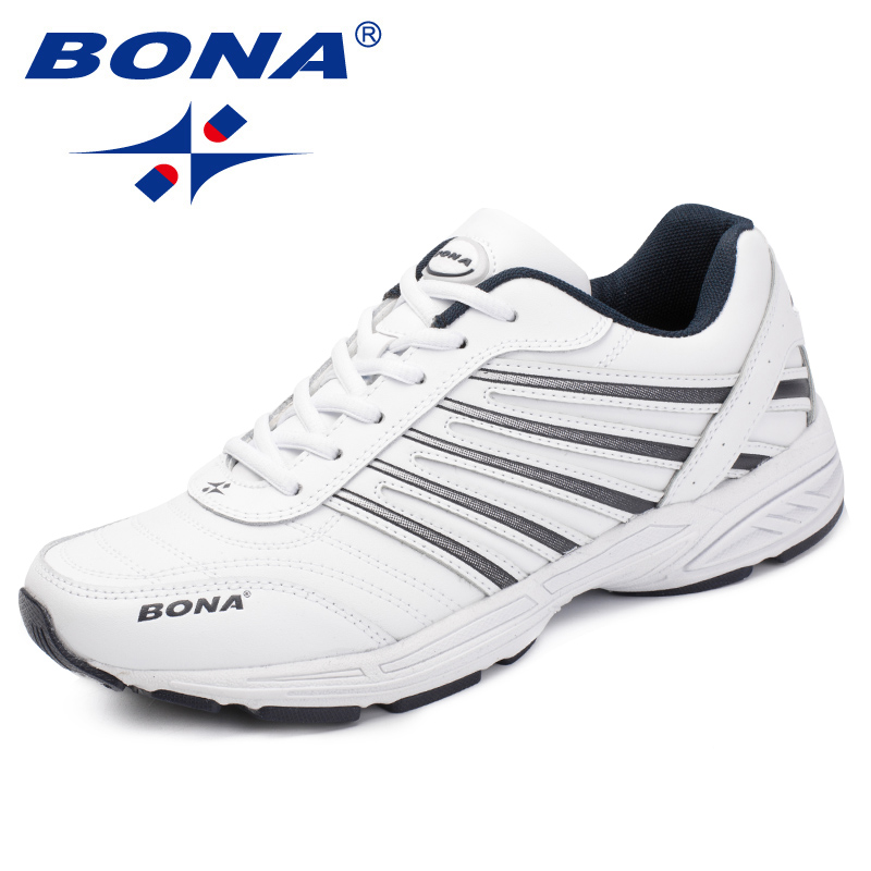 BONA New Classics Style Men Casual Shoes Outdoor Fashion Sneakers Lace Up Men Flats Split Leather Men Loafers Fast Free Shipping