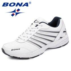 Bona novo estilo clássico dos homens sapatos casuais moda ao ar livre tênis rendas até apartamentos dividir couro masculino mocassins rápido frete grátis
