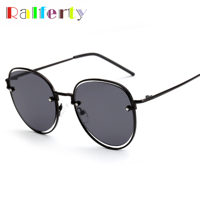 124170b505075 Ralferty Retro Round Sunglasses Women Men Brand Designer Sun Glasses For  Female Black Shades UV400 Oculos Vintage Eyewear 1926