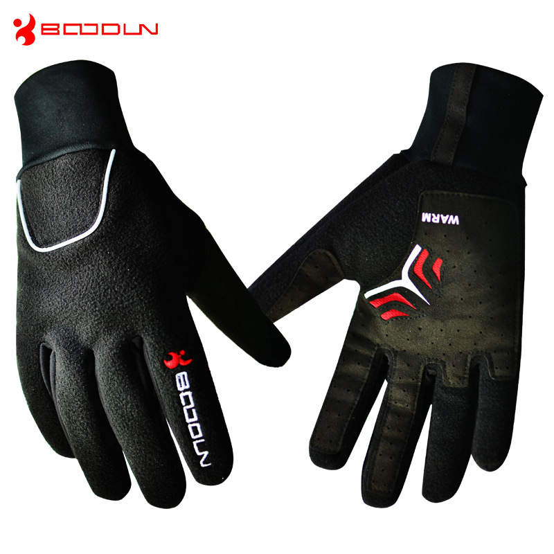 Windproof Fleece font b Gloves b font For Winter Bicycle Thermal Guantes Ciclismo Bicicleta Luvas Full