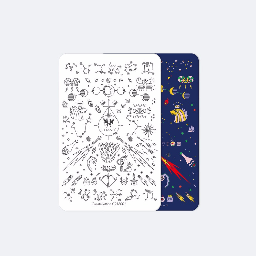 CICI & SISI Constellation Nail stamping plates acrílico Nail Art Print Stamping Plates Good Quality Nail Polish Template Manicure