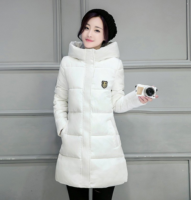 Winter Jacket Women Slim Female Coat Thicken Parka Down Cotton Clothing Red Clothing Hooded Student (10)