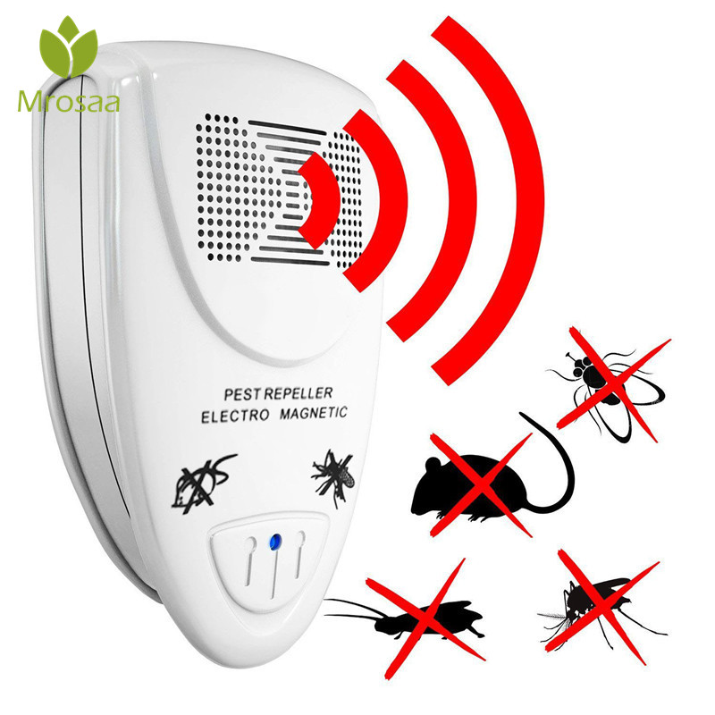 Ultrasonic Pest Repeller Electronic Pests Control Repel Mouse Mosquitoes Roaches Killer