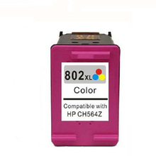 High quality 1pcs Tri-color compatible ink Cartridge For HP 802XL 802 XL use in DeskJet 1000 2000 1050 2050  3050 Printer