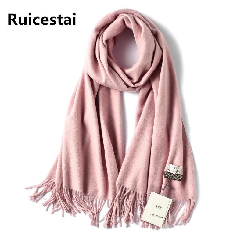 2019 brand soild winter   scarf   thick warm women   scarves   cashmere shawls and   wraps   quality pashmina wool echarpe for lady bandana