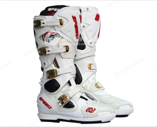 Free shipping Genuine PRO-BIKER B1004 off-road motorcycle boots knight boots racing boots and long sections / white