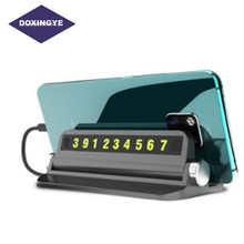 DOXINGYE Universal Car Temporary Telephone Number Stop Sign Parking Card Storage Holder Phone Assistance