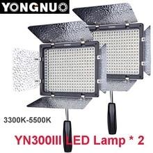 2 шт. Yongnuo YN300 III YN-300 Lil 3200 К-5500 К cri95 + про LED Видео ж/Дистанционное управление, поддержка AC Адаптеры питания и App удаленного