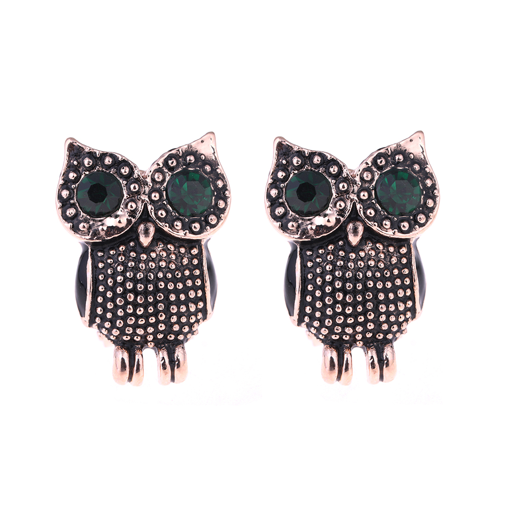 New Fashion Vintage Alloy Owl Stud Earrings Hot Clic Gold Earring For Women S Brincos Jewelry Eje In From