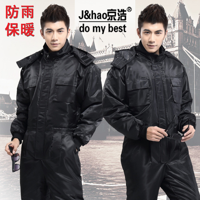 2015 Winter Thicken Safety Clothing Coverall Jacket Windproof  Rainproof  Waterproof  Jumpersuit Car Washer Uniform