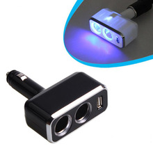 Car Power Socket Charger USB Adapter Rotating Cigarette Lighter metal Smart Phone Table Auto Accessories