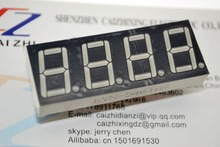 0.56inch 4bit Common Cathode Digital Tube Red LED Digit Display 7 Segment 0.5inch 0.5 0.56 inch 0.56'' 0.56in. 4 Four bit(China (Mainland))