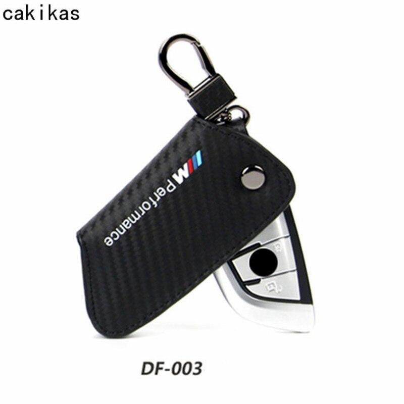 Carbon Faser Leder Schlüssel Brieftasche Fall Für BMW G30 F31 E30 F10 X1 E36 X5 E53 E46 F30 E60 X1 f48 Schlüssel Abdeckung Für BMW Auto Styling