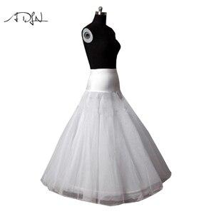 Image 2 - 새로운 도착 고품질의 라인 웨딩 신부의 페티코트 Underskirt Crinolines 성인 웨딩 드레스