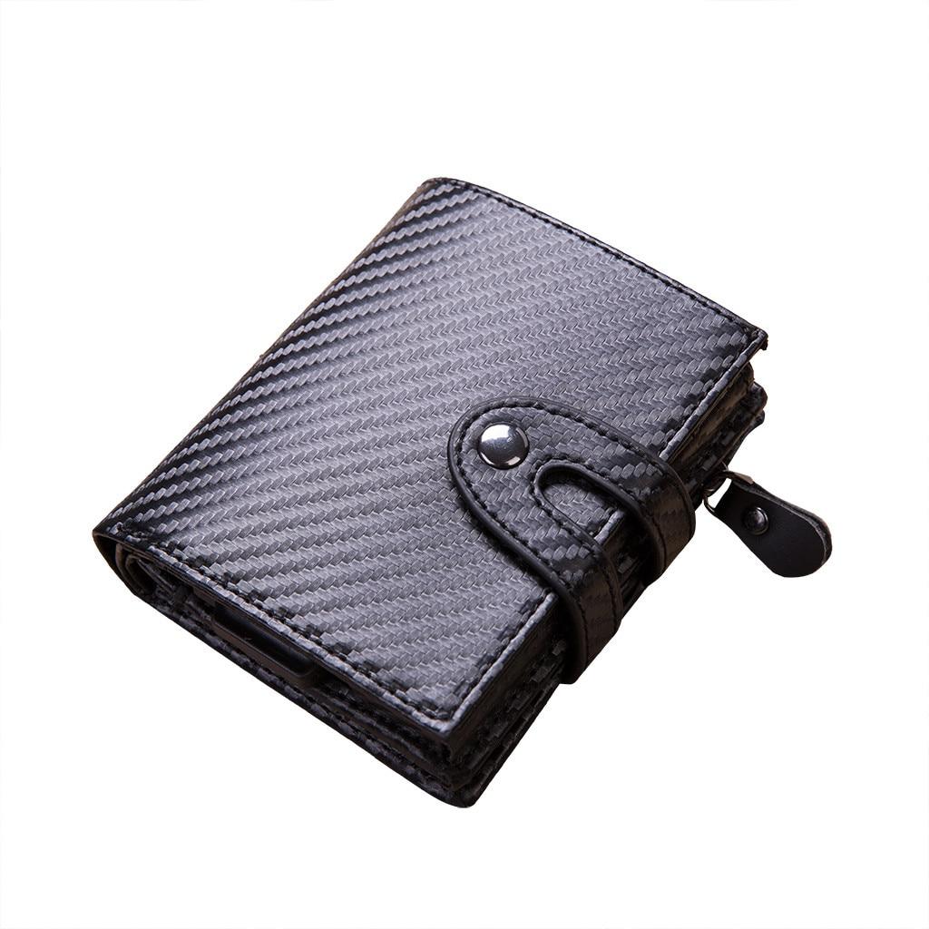 Coin Wallet Porte Floral-Card-Holder Woman Package Credit-Bank Men Bag Carte Carbon-Fiber