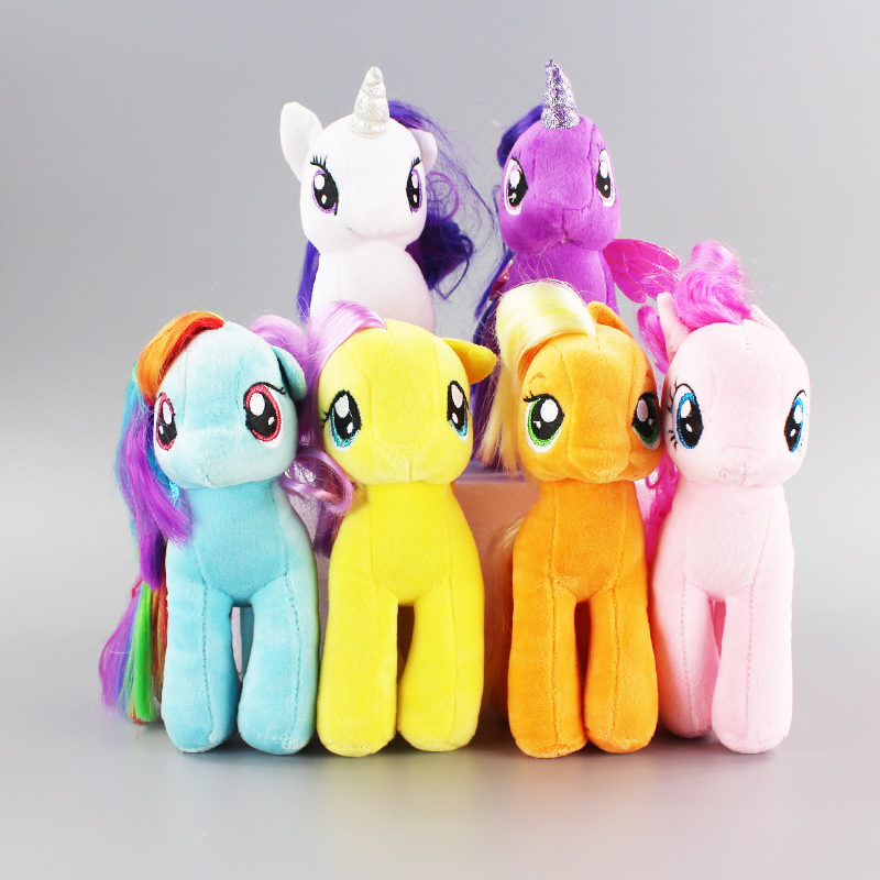 18CM 6 Colors Fresh Plush Unicorn Horse Stuffed Animals ...