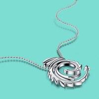 Unisex 925 gümüş kolye moda kolye kolye katı gümüş boncuk kolye erkekler ve kadın popüler takı 46 cm boyutu