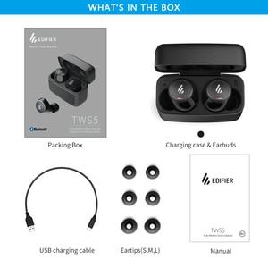Image 5 - EDIFIER TWS5 Bluetooth V5.0 TWS kulakiçi aptX ses çözme IPX5 su geçirmez dokunmatik kontrol kadar 32hrs çalma süresi kablosuz kulaklık