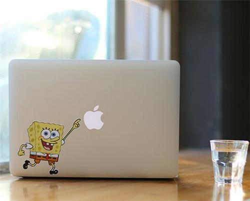CJ Cartoon Happy SpongeBob Pointing Fruit Laptop Skin Case For - Spongebob macbook decal