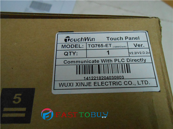 HMI 7 800*480 128MB USB ARM9 CPU 400MHZ Ethernet  TG765-ET with programming Cable  One Year warranty original new 7 tg765 xt c hmi 800 480 with programming cable