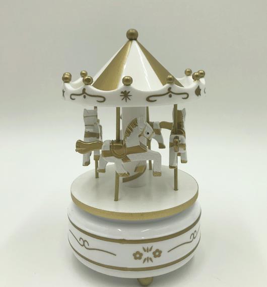 Круглые музыкальные шкатулки Merry-go-round, геометрические музыкальные украшения для детской комнаты, подарки унисекс, Деревянная Рождественская карусель, коробка для домашнего декора, 1 шт - Цвет: 4