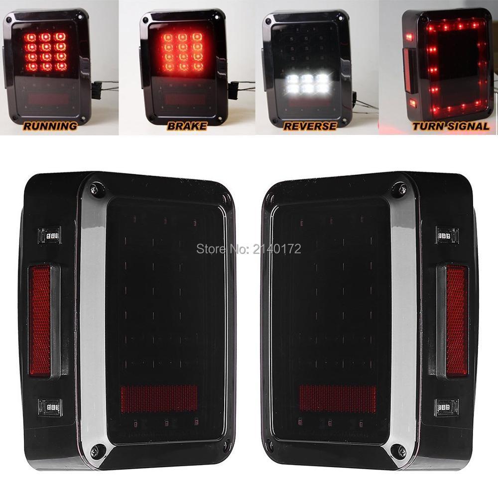 LED тормоз хвост света conversion сборка лампы заднего включите Сингал огни заднего хода на 2007 - 2016 джипы Вранглер JK в