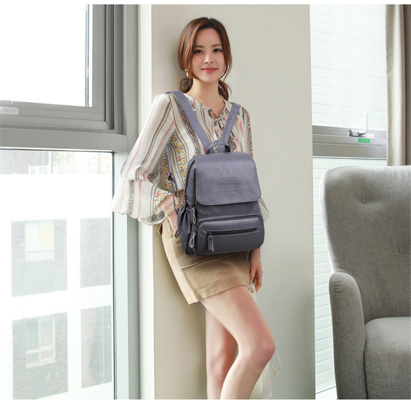 HTB12G4hiZuYBuNkSmRyq6AA3pXa1 LANYIBAIGE 2018 Women Backpack Designer high quality Leather Women Bag Fashion School Bags Large Capacity Backpacks Travel Bags