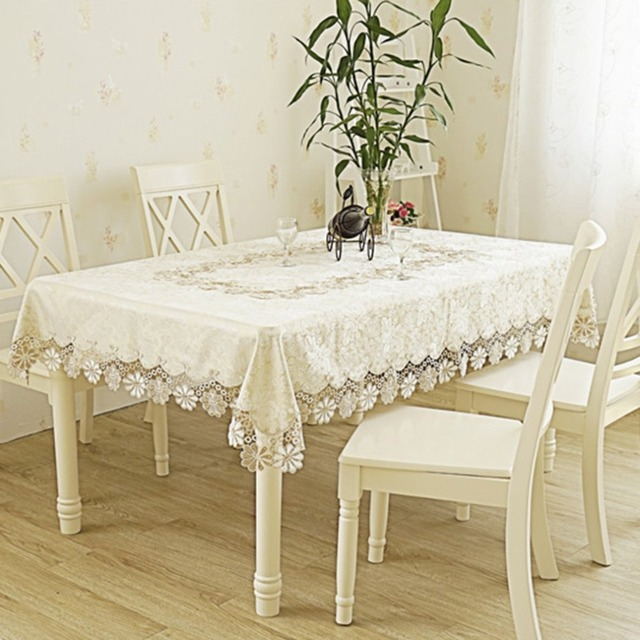 Luxury Lace Tablecloths Coffee Table Living Room Restaurant Runners Tableware Placemats Tv Refrigerator Cloth Cover