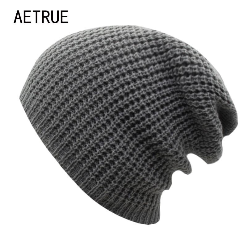 2018 Winter Hat Women Beanies Knit Hat Bonnet Caps Brand Women Winter Hats For Men Warm Acrylic Skullies Casual Baggy Beanie hot sale unisex winter plicate baggy beanie knit crochet ski hat cap