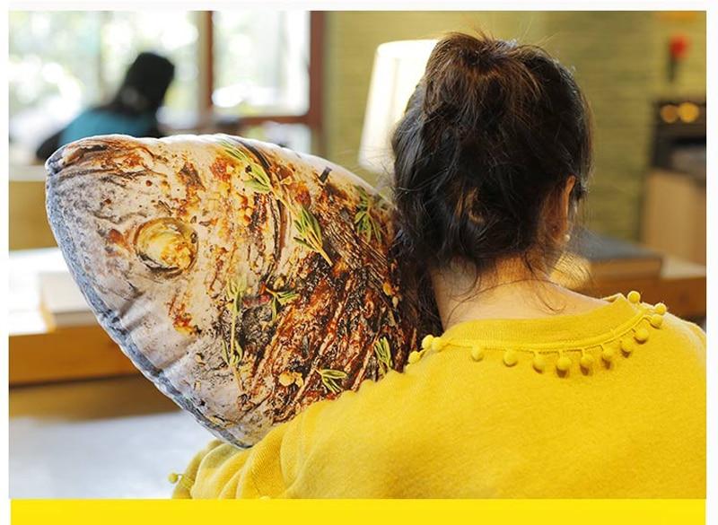 HTB12G4wjWAoBKNjSZSyq6yHAVXaw 3D Simulation Food Shape Plush Pillow Creative Chicken Sausage Plush Toys Stuffed Sofa Cushion Home Decor Funny Gifts for Kids