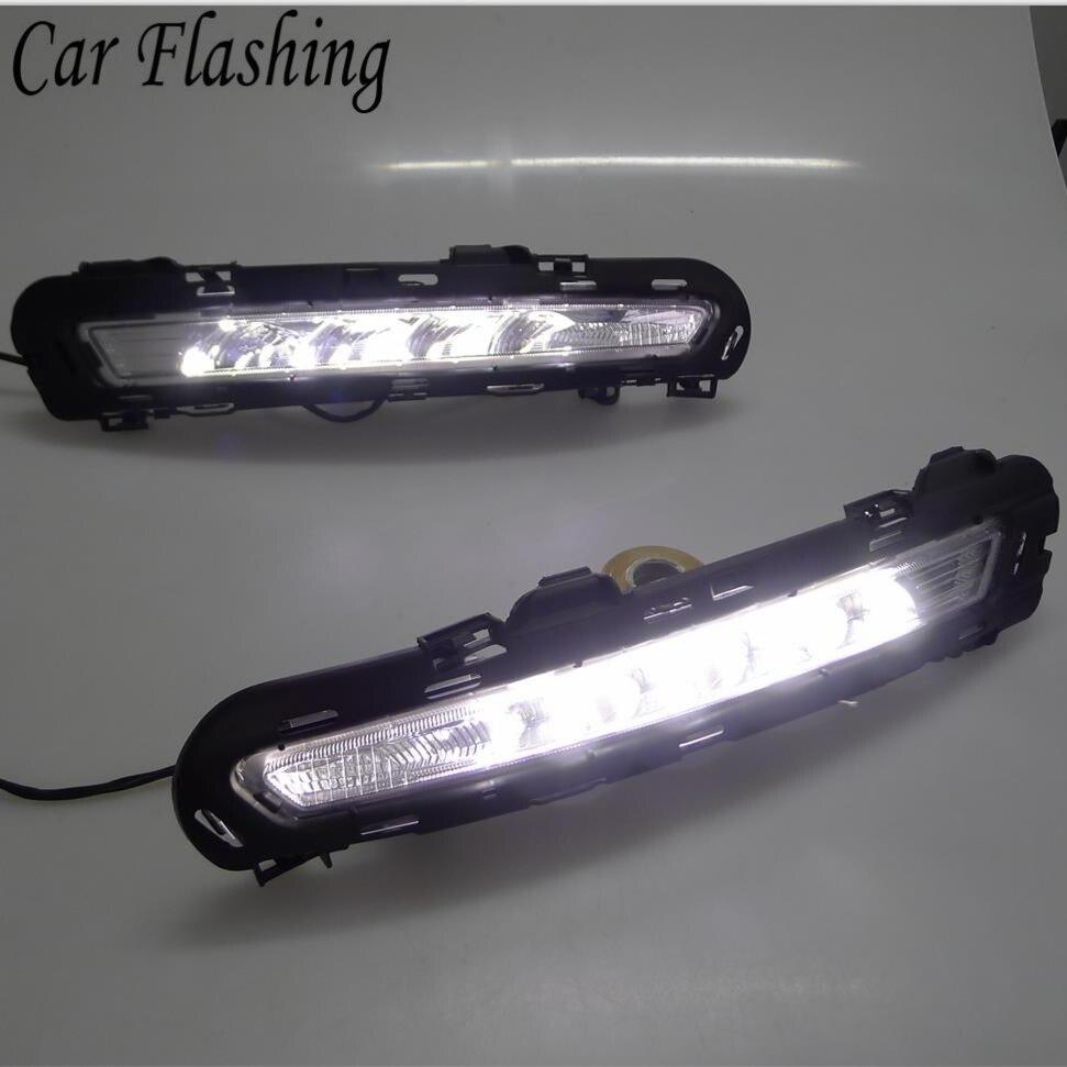 Car Flashing 1set For Ford Mondeo 2011 2012 2013 LED DRL Daytime Running Light Daylight Waterproof