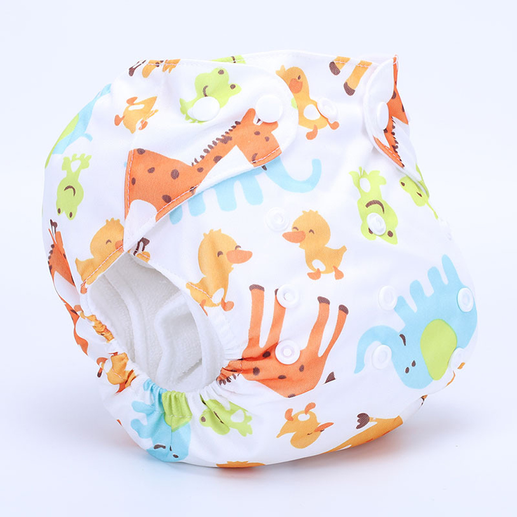 Cute Baby Diapers Baby Cotton Training Pants Newborn Waterproof Adjustable Swim Diaper Reusable Washable Pool Cover Baby Swim