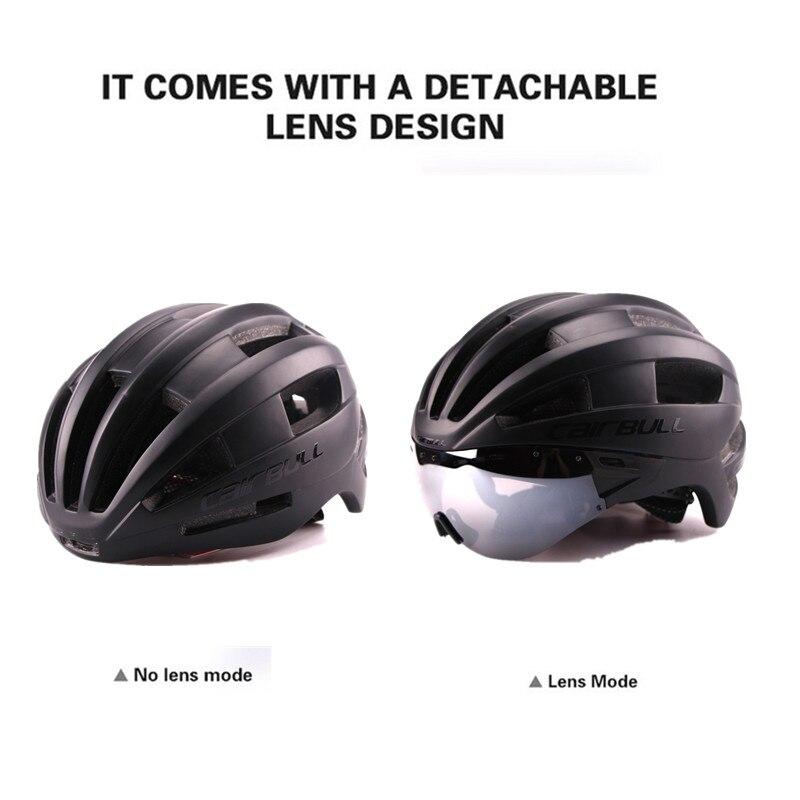 Cairbull Bicycle Helmet EPS Aero Ultralight Road MTB Bike Windproof Lenses Integrally-molded Helmet Cycling Casco Ciclismo 2018