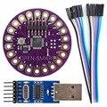 Lilypad ATmega328P Носимых Развитие Доска + CH340G USB к TTL Программист Модуль для Arduino